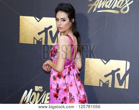 Chloe Bridges at the 2016 MTV Movie Awards held at the Warner Bros. Studios in Burbank, USA on April 9, 2016.