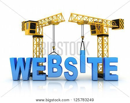 Abstract website and crane (Done in 3d)