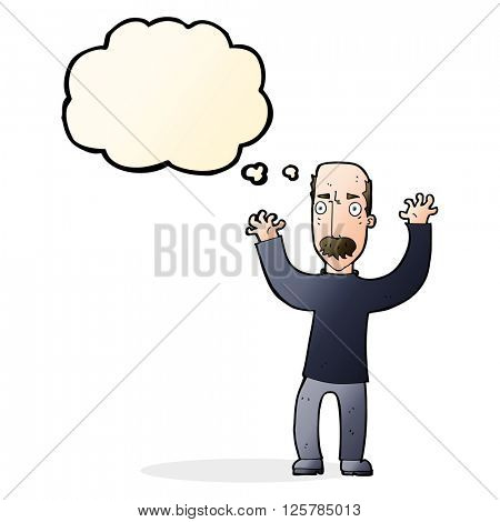 cartoon angry dad with thought bubble