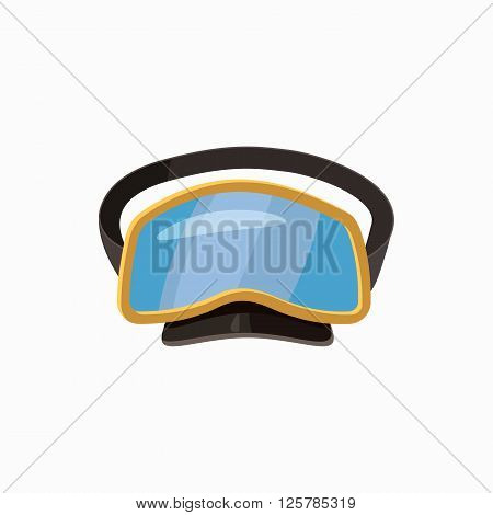 Diving mask icon in cartoon style isolated on white background