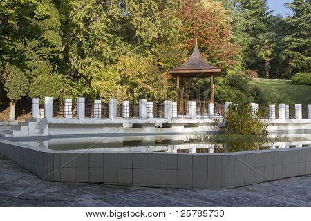 Pond And Mramorny Bridge