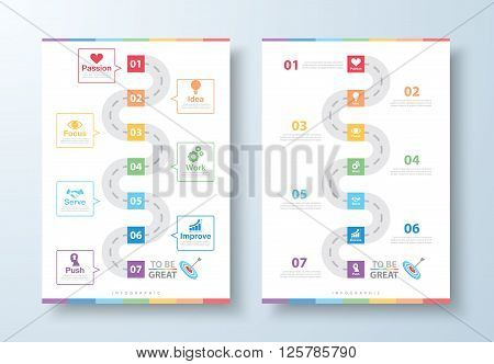 Way to be Great Infographic. Success way concept. Can be used for layout web design brochure flyer leaflet poster template Vector illustration infographics