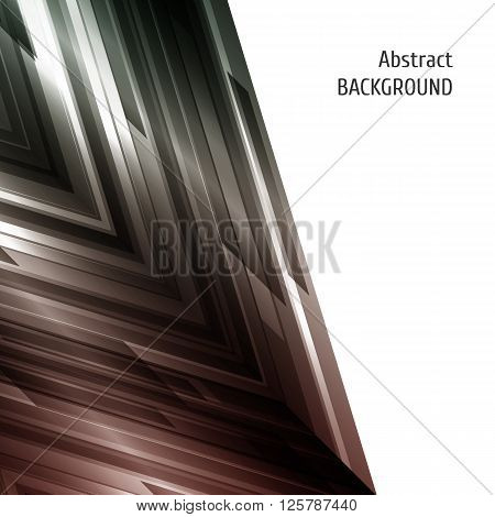 Abstract geometric background. Asymmetry design in green and red. Vector illustration.