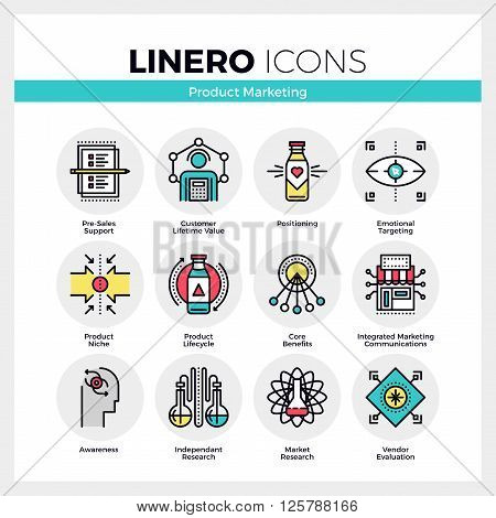 Product Marketing Linero Icons Set