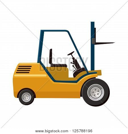 Stacker loader icon in cartoon style on a white background