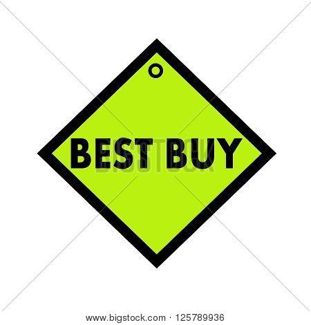 best buy black wording on quadrate green background