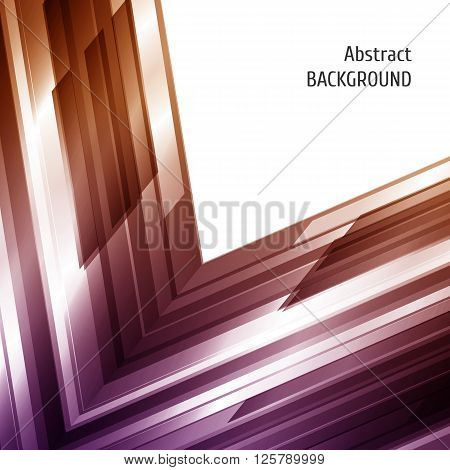 Abstract geometric background in violet and brown. Asymmetry design. For annual report cover business flyer. Vector illustration.