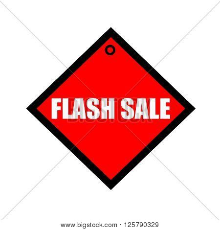 Flash sale black wording on quadrate red background