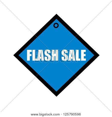 flash sale white wording on quadrate blue background