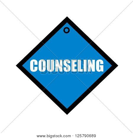 COUNSELING white wording on quadrate blue background