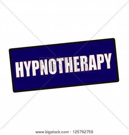 an images of HYPNOTHERAPY wording on rectangular Green signs
