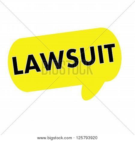 LAWSUIT wording on Speech bubbles yellow rectangular