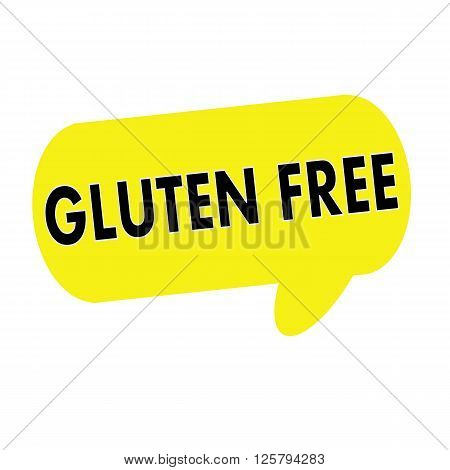 GLUTEN FREE wording on Speech bubbles yellow rectangular