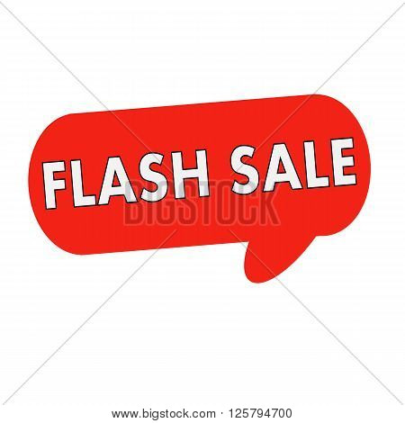 flash sale wording on Speech bubbles red cylinder