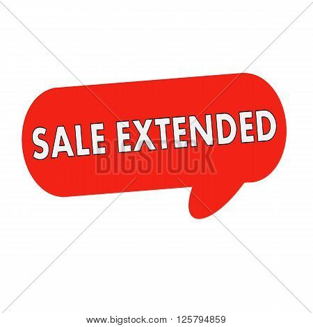 sale extended wording on Speech bubbles red cylinder