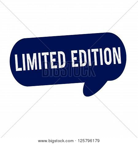 Limited Edition wording on Speech bubbles blue cylinder
