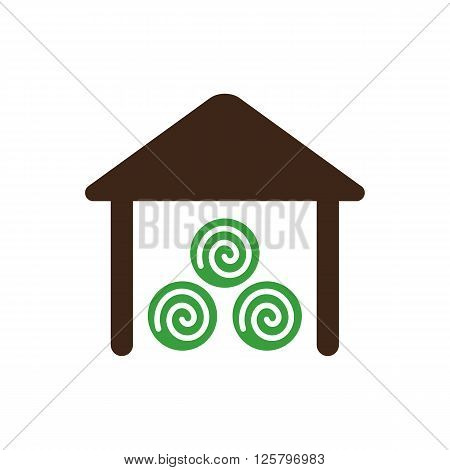 Shed icon outline. Farm. Vector illustration eps 10