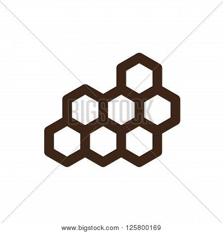 Honeycomb bee icon outline. Garden. Farm. Vector illustration eps 10