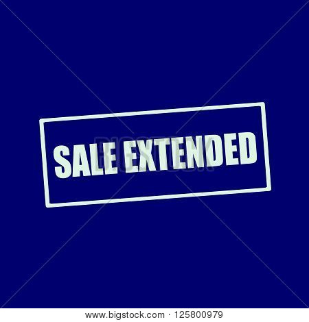 sale extended white wording on rectangle blue-black background