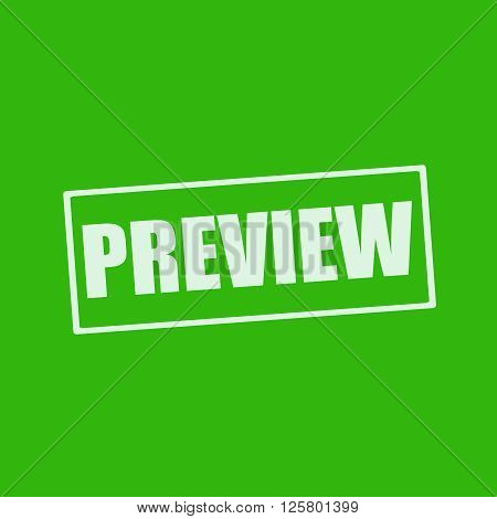 Preview white wording on rectangle green background