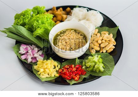Miang Kham Thailand Indigenous Culture yummy Dessert for healthy lifestyle.