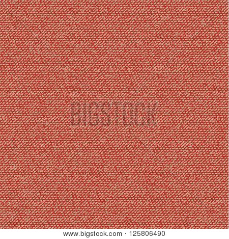 Vector Fabric texture. Canvas textile background. Red Seamless pattern