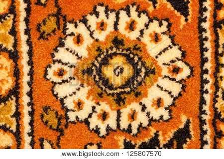 traditional moldavian carpet with abstract flowers in design