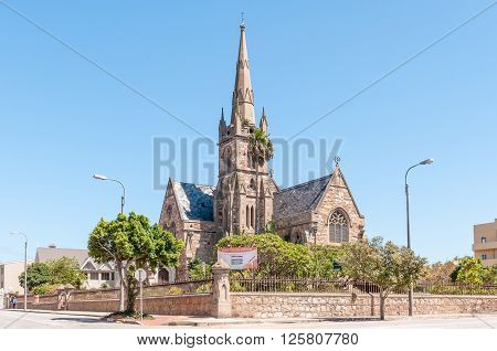 PORT ELIZABETH SOUTH AFRICA - FEBRUARY 27 2016: The historic Holy Trinity Church built in 1862 and restored in 1898 after a fire
