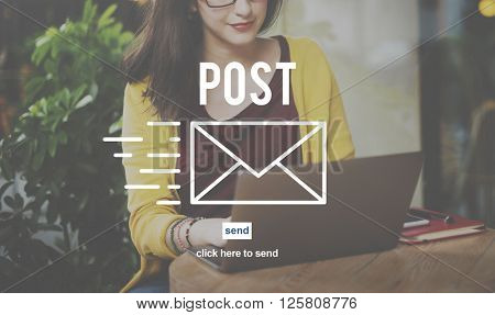 Post Mail Correspondence Online Message Communication Concept