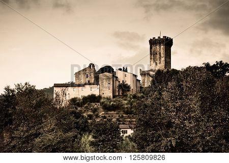 Medieval citadel of Vicopisano (Italy Tuscany Pisa)