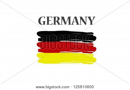 German flag, abstract flag isolated on white background