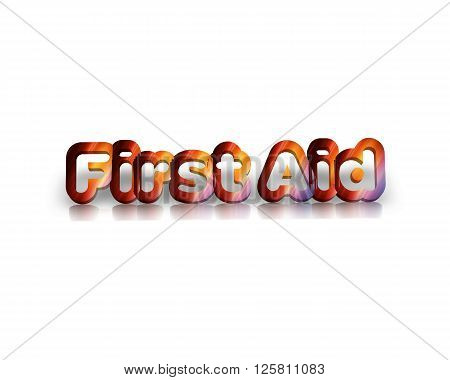 First aid -  3d word with reflection !