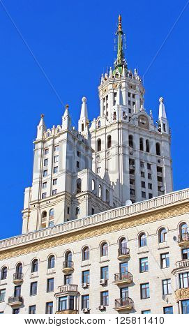 Stalin's Empire style building in Moscow, Russia