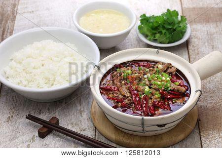shuizhu, shui zhu, sliced beef in hot chili oil, Chinese Sichuan cuisine