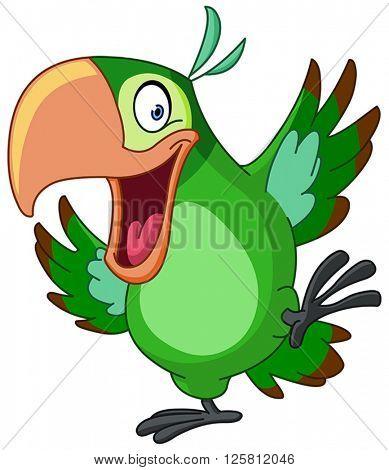 Happy parrot dancing