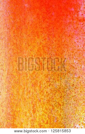Oxidized Material - Close Up Of A Textured Oxidized Surface.background Design - Orange And Copper