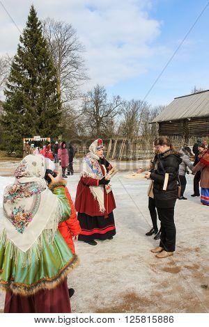 Vitoslavlitsy, Russia - March 12, Former Russian fun Refrain volch