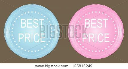 Best price button on grey background. Vector.
