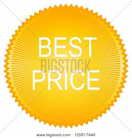 Best price button on white background. Vector.