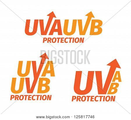 uva and uvb protection logo on white background