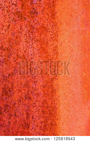 Oxidized Material - Close Up Of A Textured Oxidized Surface.background Design - Intense Red