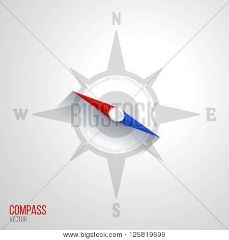 Navigation orientation compass travel nautical windrose abstract icon vector illustration