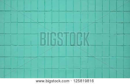 Teal Blue Painted Ceramic Tile Wall