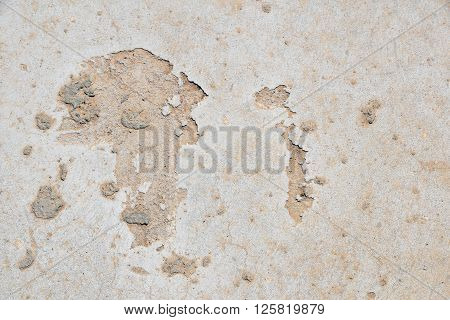 Africa Shaped Defects In Grunge Concrete