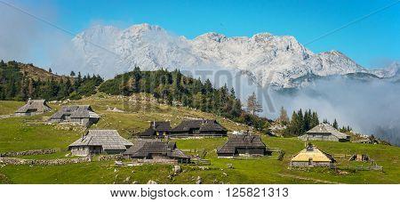 View of Velika Planina in Kamnik, Slovenia