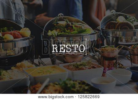 Resto Restaurant Dining Eating Concept