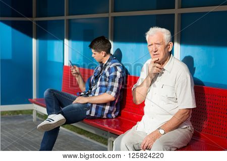 Men Waiting For Bus