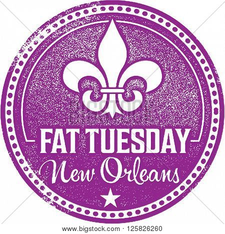 Fat Tuesday Mardi Gras Stamp