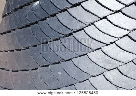 Close up of slate roof tiles background