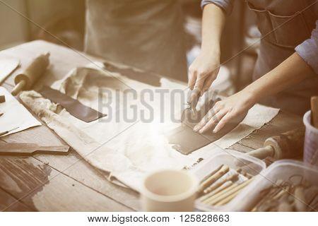 Craftsman Craft Clay Creativity Tool Concept